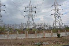 tät station för elektrisk ström upp Royaltyfria Foton