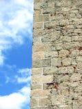 tät sten upp väggen Arkivfoton