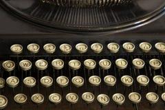 tät tangentskrivmaskin för antikvitet upp Royaltyfri Fotografi