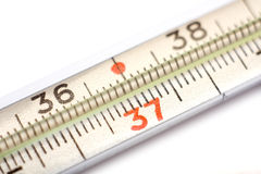 tät termometer upp Royaltyfri Fotografi