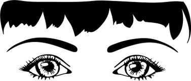 täta ögon som ser upp Arkivbilder