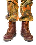 täta ben tjäna som soldat upp Royaltyfria Bilder