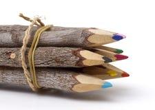 täta blyertspennor up trä Royaltyfria Foton