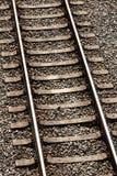 täta daglinjer järnväg spåriner upp två arkivfoto