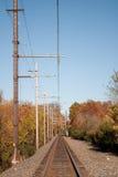 täta daglinjer järnväg spåriner upp två Royaltyfria Bilder