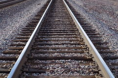 täta daglinjer järnväg spåriner upp två royaltyfri bild