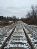 täta daglinjer järnväg spåriner upp två Royaltyfria Foton