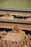 täta daglinjer järnväg spåriner upp två Konstruktion av järnvägsspår Järnväg infrastruktur soligt väder fotografering för bildbyråer
