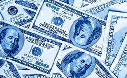 täta dollarpengar för bakgrund upp Arkivfoto