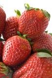 täta jordgubbar för grupp upp Royaltyfri Foto