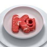 täta kilos meat som skjutas upp vektor illustrationer