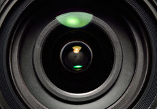 täta linsfotoreflexioner upp Fotografering för Bildbyråer