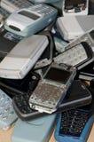 täta mobila gammala telefoner upp Royaltyfri Bild