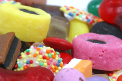 täta sötsaker upp arkivbild