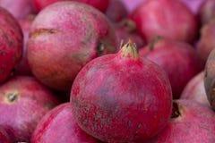 täta saftiga pomegranates upp Royaltyfria Foton