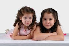täta systrar tillsammans två Arkivbilder