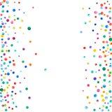 Täta vattenfärgkonfettier på vit bakgrund Arkivfoton
