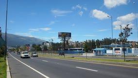 Tätigkeit in der Allee des Granados in der Nordzone der Stadt von Quito Stockbild
