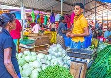 Tätigkeit in Wellawaya-Markt Stockfotos