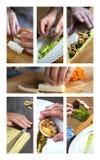 Tätigkeiten des Kochs Stockfoto