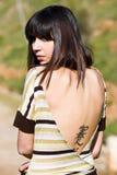 Tätowierung auf der Rückseite Stockfoto