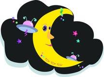 Tätowierung-Mond mit ausländischen Freunden Lizenzfreie Stockfotos