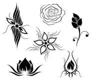 Tätowierung- und Blumenmuster Stockfoto