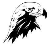 Tätowierungen. Kopf des Adlers Stockfotografie