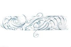 Tätowierungkunst, Skizze einer Maschine Stockfoto