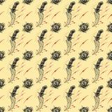 Tätowierungs-nahtloses Muster Lizenzfreie Stockfotos