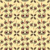 Tätowierungs-nahtloses Muster Lizenzfreies Stockbild
