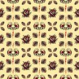 Tätowierungs-nahtloses Muster Stockfotos