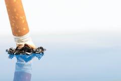 tätt övre för cigarett Arkivfoto