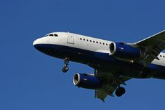 tätt övre för flygplan Arkivfoto