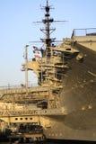tätt övre för hangarfartyg Royaltyfri Bild