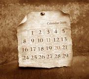 tätt övre för kalender Arkivfoton