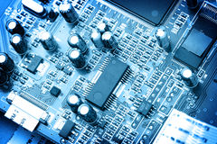 tätt elektroniskt övre för strömkrets Arkivfoton