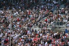 tätt folkmassamedel upp Royaltyfria Foton