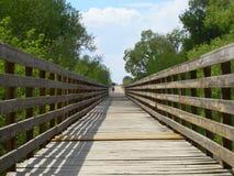 tätt gammalt övre för bro Arkivfoto