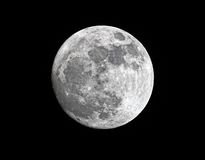 tätt gibbous dess moonperigee som är super till vax royaltyfri fotografi