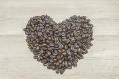 tätt kaffe för böna som skjutas upp Royaltyfria Bilder