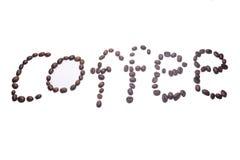 tätt kaffe för böna som skjutas upp Arkivfoto