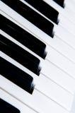 tätt key piano upp Royaltyfri Fotografi