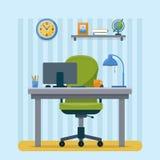 tätt kontor upp arbetsplats royaltyfri illustrationer