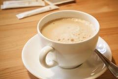 tätt läckert övre för kaffekopp Royaltyfria Foton