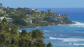 Tätt upp av Hawaii fjärd för Ke-'ahamoe från Diamond Head stock video