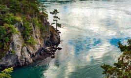 Täuschungs-Durchlaufküstenlinie Stockfotos