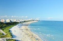 Tävlar av Miami Beach Florida USA som tas från kryssningskeppet royaltyfria foton