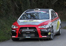 Tävlings- bil en Mitsubishi Evo 9 Royaltyfria Bilder