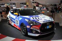 Tävlings- bil för Hyundai Veloster turboladdare Royaltyfri Fotografi